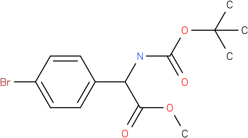(4-bromo-phenyl)-tert-butoxycarbonylamino-acetic acid methyl ester