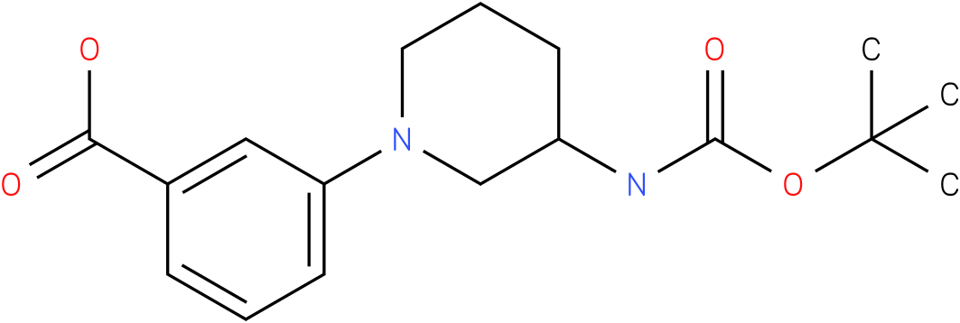 1-(3-carboxy-phenyl)-piperidin-3-carbamic acid tert-butyl ester