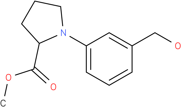 1-(3-hydroxymethyl-phenyl)-pyrrolidin-2-carboxylic acid methyl ester