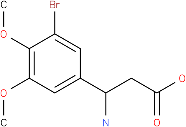3-Amino-3-(3-bromo-4,5-dimethoxy-phenyl)-propionic acid
