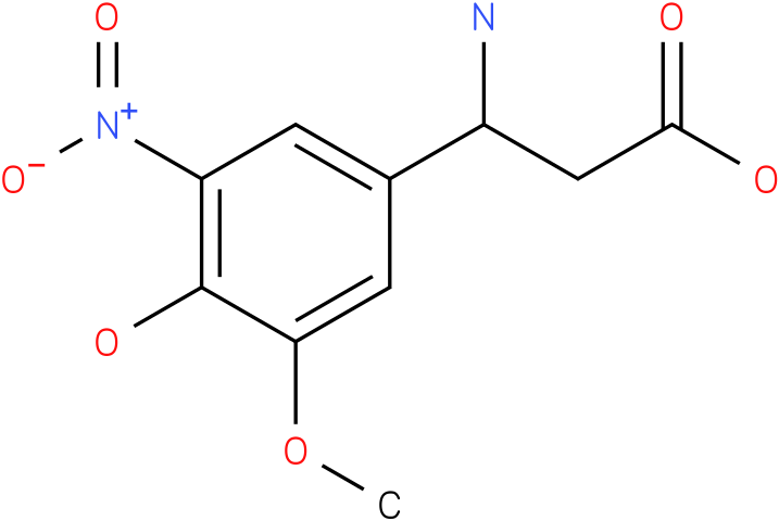 3-Amino-3-(4-hydroxy-3-methoxy-5-nitro-phenyl)-propionic acid
