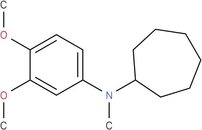Cycloheptylmethyl-(3,4-dimethoxy-phenyl)-amine