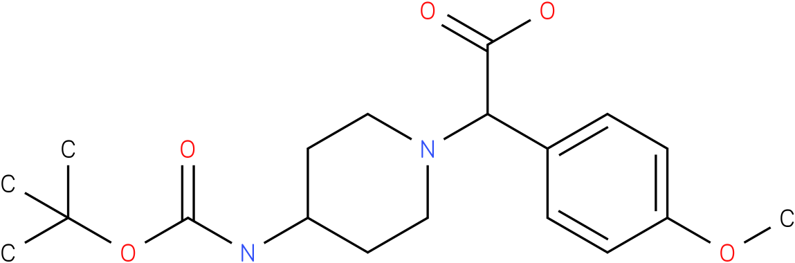 (4-tert-butoxycarbonylamino-piperidin-1-yl)-(4-methoxy-phenyl)-acetic acid
