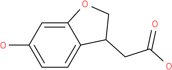 2-(6-Hydroxy-2,3-dihydrobenzofuran-3-yl)acetic acid