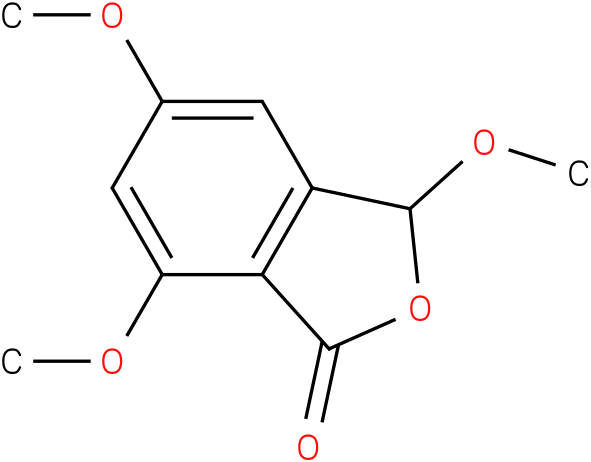 1(3H)-Isobenzofuranone, 3,5,7-trimethoxy-