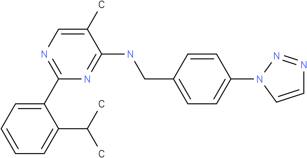4-Pyrimidinamine, 5-methyl-2-[2-(1-methylethyl)phenyl]-N-[[4-(1H-1,2,3-triazol-1-yl)phenyl]methyl]-