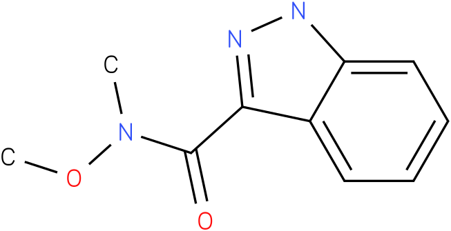 1H-Indazole-3-(N-methoxy-methyl) carbamide