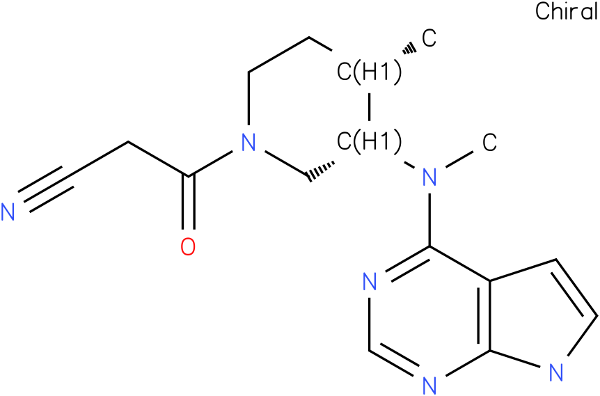 3-((3S,4S)-4-methyl-3-(methyl(7H-pyrrolo[2,3-d]pyrimidin-4-yl)amino)piperidin-1-yl)-3-oxopropanenitrile