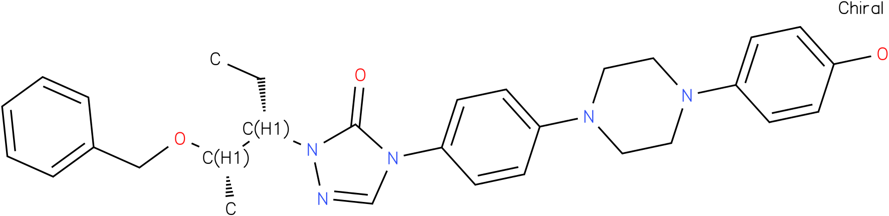 2-[(1S,2S)-1-ethyl-2-bezyloxypropyl]-2,4-dihydro-4-[4-[4-(4-hydroxyphenyl)-1-piperazinyl]phenyl]- 3H-1,2,4-Triazol-3-one
