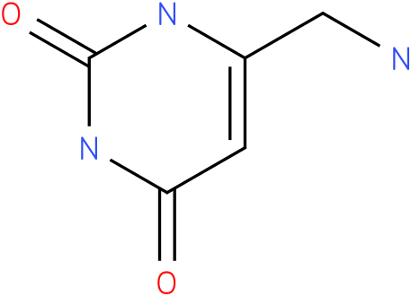 2,4(1H,3H)-Pyrimidinedione, 6-(aminomethyl)- (9CI)