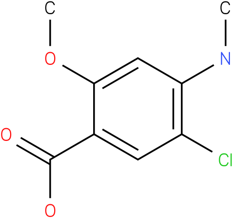 5-Chloro-2-methoxy-4-methylamino-benzoic acid