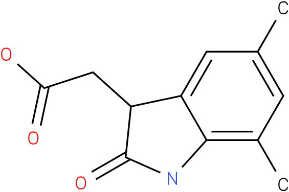 2-(5,7-dimethyl-2-oxoindolin-3-yl)acetic acid