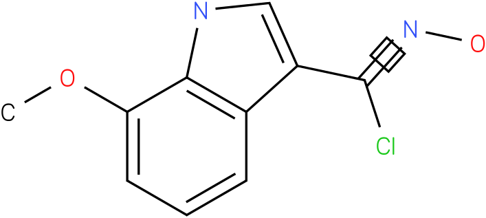 7-METHOXY-1H-INDOLE-3-CARBOXIMIDOYL CHLORIDE,N-HYDROXY