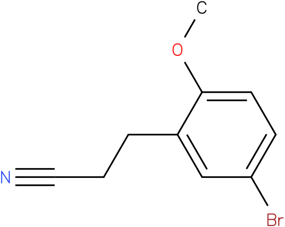 3-(5-bromo-2-methoxy-phenyl)propionitrile
