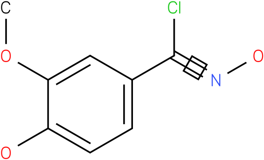 N,4-DIHYDROXY-3-METHOXY-BENZENE CARBOXIMIDOYL CHLORIDE