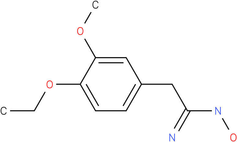 BENZENEETHANIMIDAMIDE,3-METHOXY-4-ETHOXY-N-HYDROXY