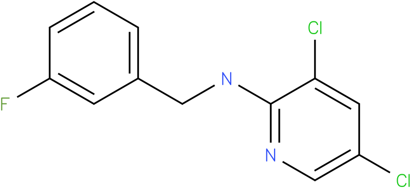 2-Pyridinamine,3,5-dichloro-N-[(3-fluorophenyl)methyl]-