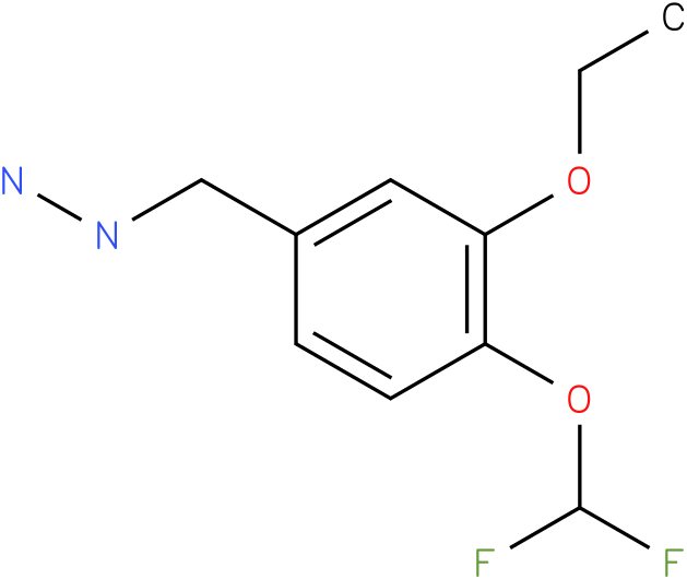1-([4-(difluoromethoxy)-3-ethoxyphenyl]methyl)hydrazine