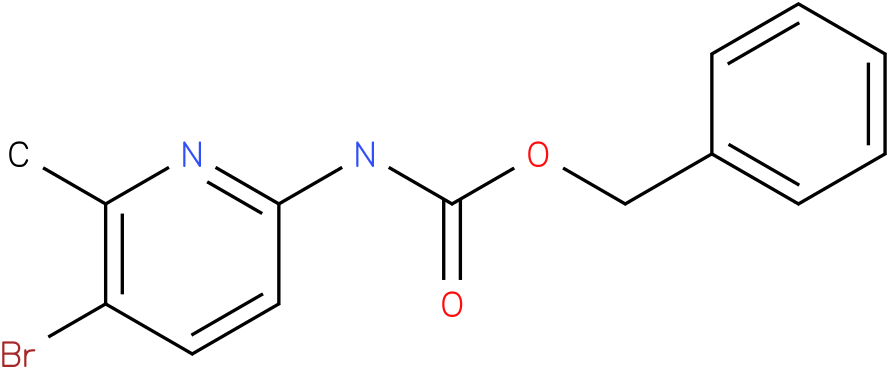 Carbamic acid,(5-bromo-6-methyl-2-pyridinyl)-,phenylmethyl ester (9Cl)
