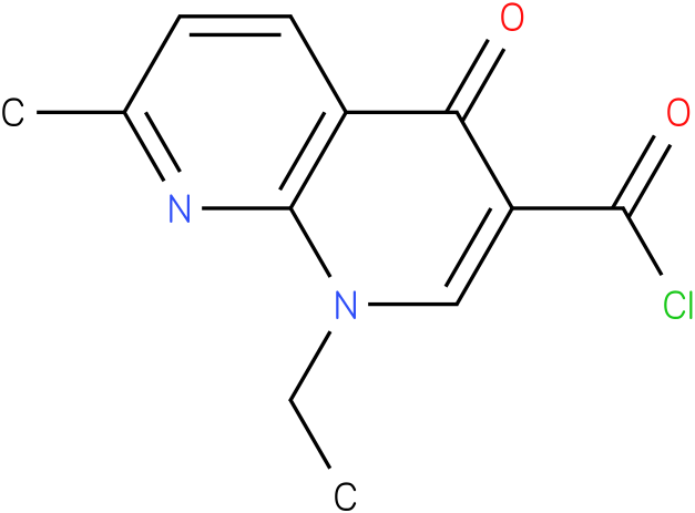 1,8-NAPHTHYRIDINE-3-CARBONYL CHLORIDE,1-ETHYL-1,4-DIHYDRO-7-METHYL-4-OXO