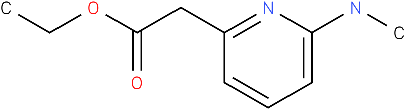 2-PYRIDINEACETIC ACID,6-(METHYLAMINO)-,ETHYL ESTER
