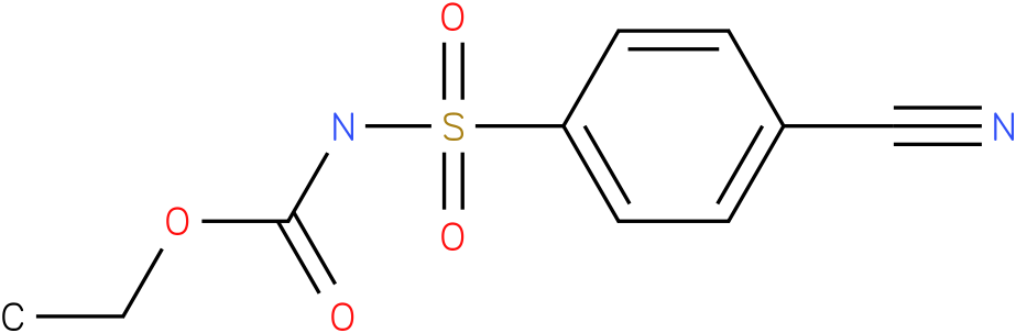 CARBAMIC ACID,[(4-CYANOPHENYL)SULFONYL]-,ETHYL ESTER (9Cl)