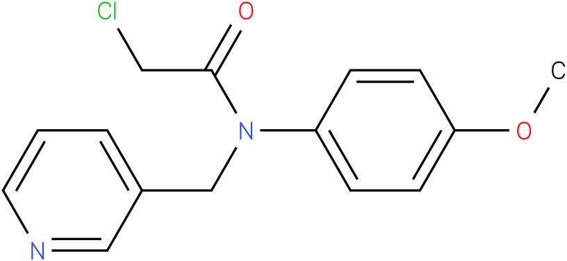 2-chloro-N-(4-methoxyphenyl)-N-((pyridin-3-yl)methyl)acetamide