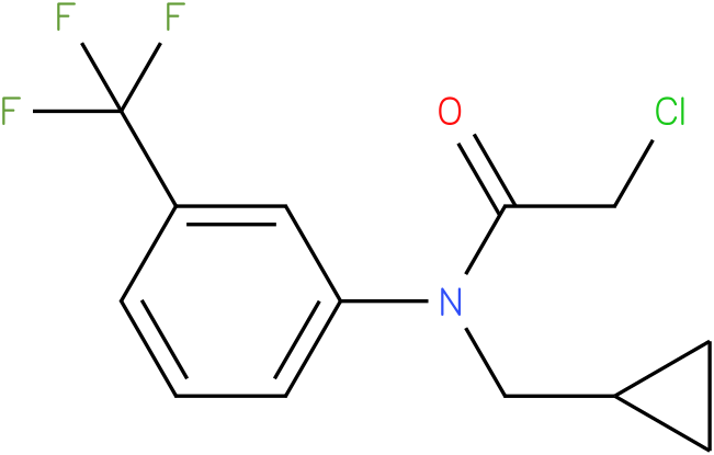 2-chloro-N-(cyclopropylmethyl)-N-(3(trifluoromethyl)phenyl)acetamide