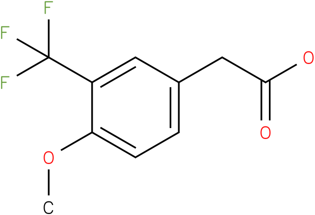 2-(3-(trifluoromethyl)-4-methoxyphenyl)acetic acid