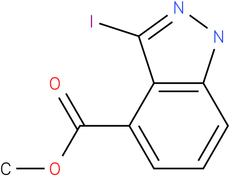 1H-INDAZOLE-4-CARBOXYLIC ACID,3-IODO-,METHYL ESTER
