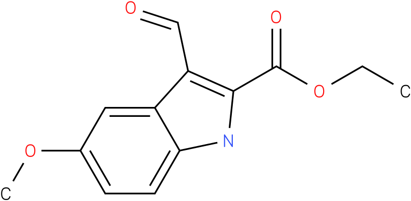 1H-INDOLE-2-CARBOXYLIC ACID,3-FORMYL-5-METHOXY-,ETHYL ESTER