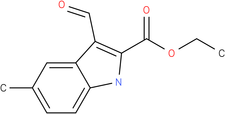 1H-INDOLE-2-CARBOXYLIC ACID,3-FORMYL-5-METHYL-,ETHYL ESTER