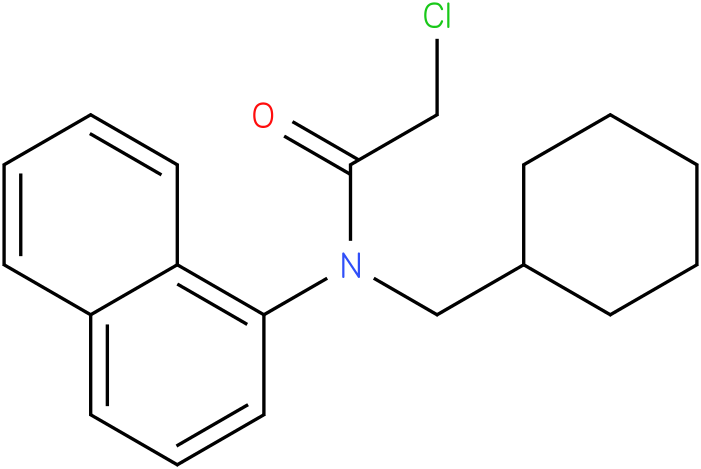 2-chloro-N-(cyclohexylmethyl)-N-(naphthalen-4-yl)acetamide