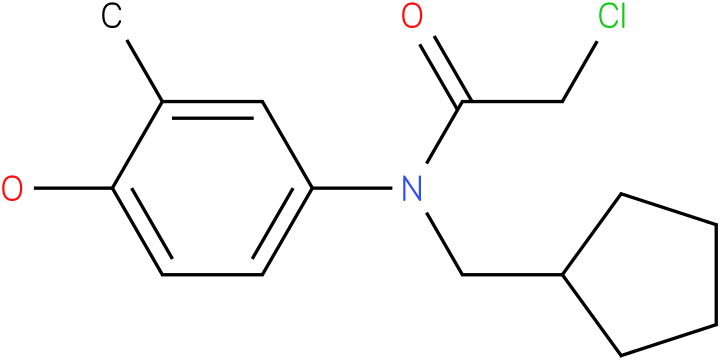 2-chloro-N-(cyclopentylmethyl)-N-(4-hydroxy-3-methylphenyl)acetamide