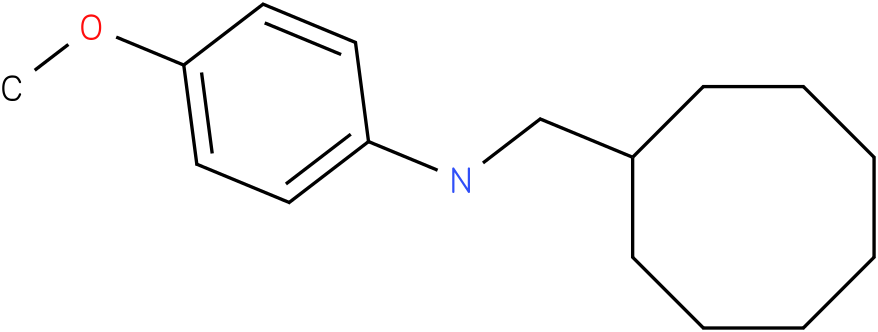 N-(cyclooctylmethyl)-4-methoxybenzenamine