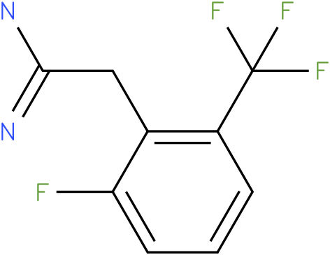 2-(2-fluoro-6-(trifluoromethyl)phenyl)acetamidine