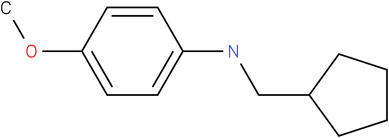 N-(cyclopentylmethyl)-4-methoxybenzenamine