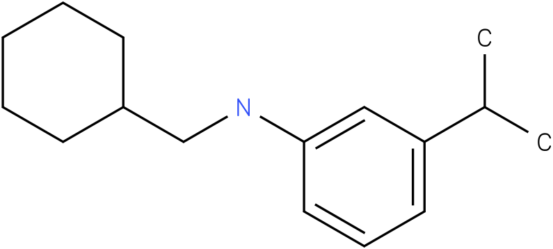 N-(cyclohexylmethyl)-3-isopropylbenzenamine