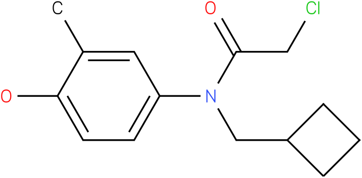 2-chloro-N-(cyclobutylmethyl)-N-(4-hydroxy-3-methylphenyl)acetamide