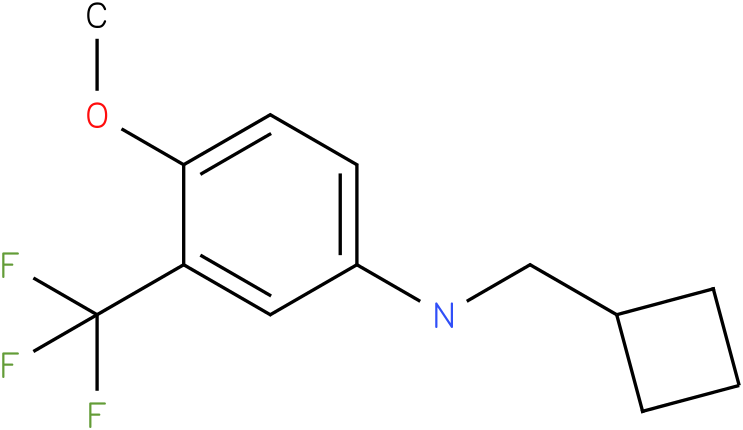 N-(cyclobutylmethyl)-3-(trifluoromethyl)-4-methoxybenzenamine