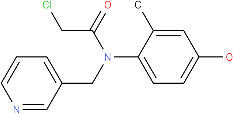 2-chloro-N-(4-hydroxy-2-methylphenyl)-N-((pyridin-3-yl)methyl)acetamide
