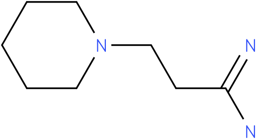 1-Piperidinepropanimidamide