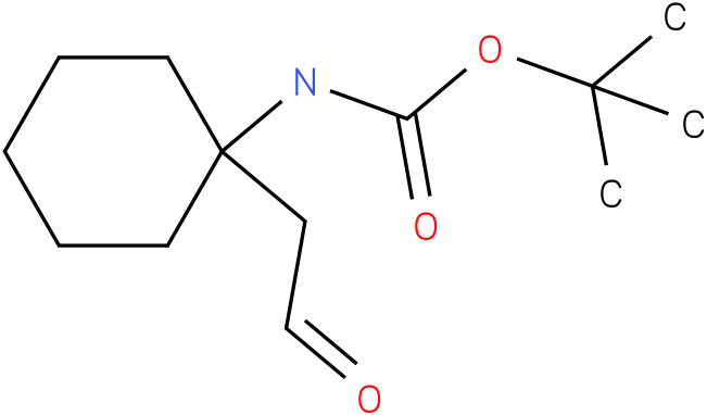 tert-butyl 1-(formylmethyl)cyclohexylcarbamate