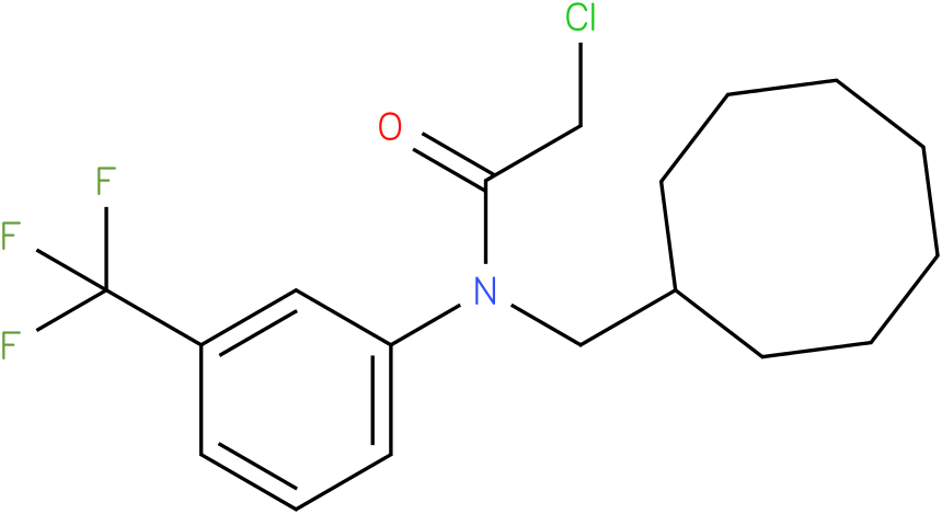 2-chloro-N-(cyclooctylmethyl)-N-(3-(trifluoromethyl)phenyl)acetamide