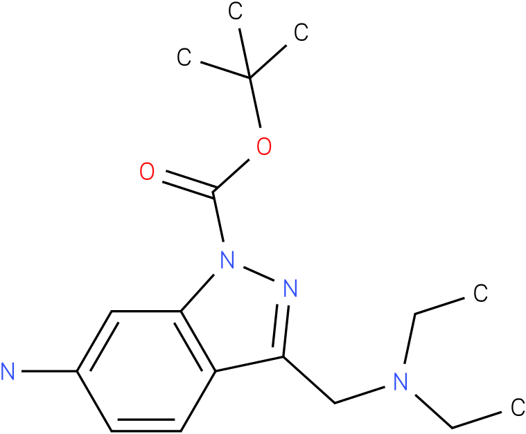 6-amino-3-diethylaminomethyl-indazole-1-carboxylic acid tert-butyl ester