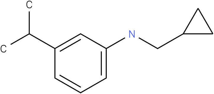 N-(cyclopropylmethyl)-3-isopropylbenzenamine