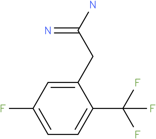 2-(5-fluoro-2-(trifluoromethyl)phenyl)acetamidine