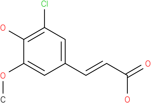 (2E)-3-(3-chloro-4-hydroxy-5-methoxyphenyl)acrylic acid