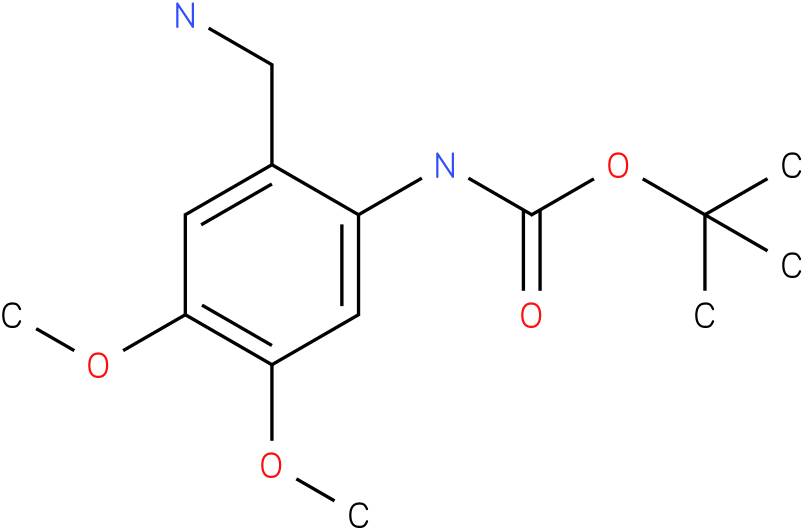 tert-butyl 2-(aminomethyl)-4,5-dimethoxyphenylcarbamate