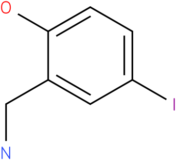 2-(aminomethyl)-4-iodophenol